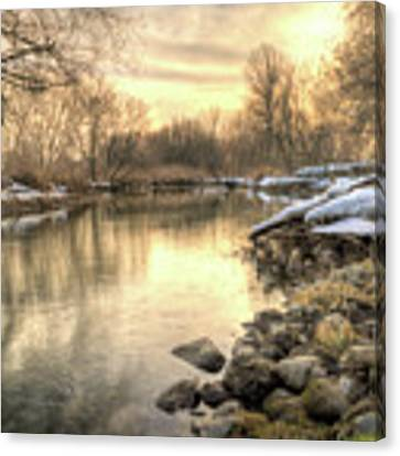 Along The Thames River Signed Canvas Print by Garvin Hunter