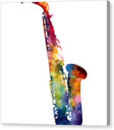 Alto Sax Canvas Print by Hailey E Herrera