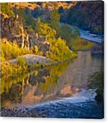 American River Triptych 2 Canvas Print by Sherri Meyer