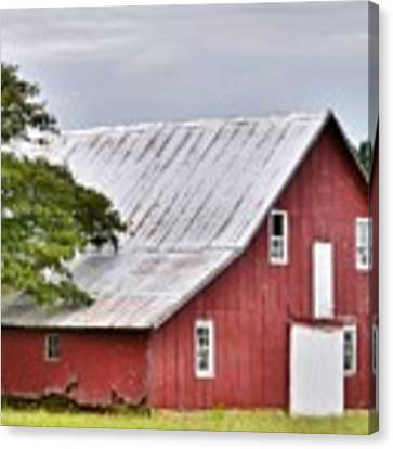 An Old Red Barn Canvas Print by Kim Bemis