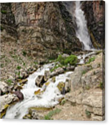 Apikuni Falls Canvas Print by Margaret Pitcher