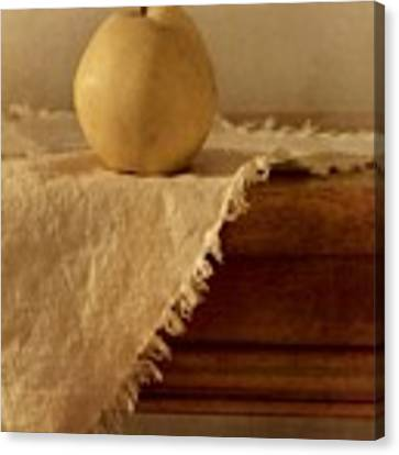 Apple Pear On A Table Canvas Print