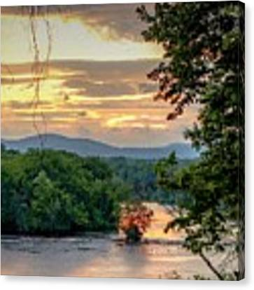 At A Bend In The River Canvas Print by Kendall McKernon