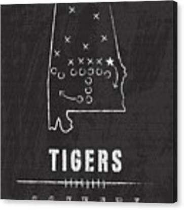 Auburn Tigers / Ncaa College Football Art / Alabama Canvas Print by Damon Gray