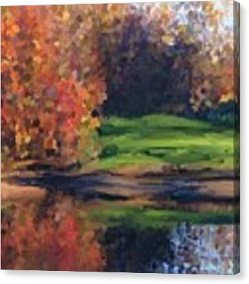 Autumn By Water Canvas Print by Ivana Westin
