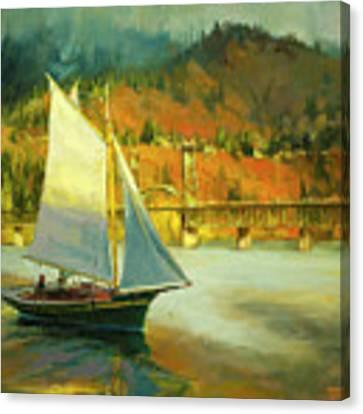 Autumn Sail Canvas Print by Steve Henderson
