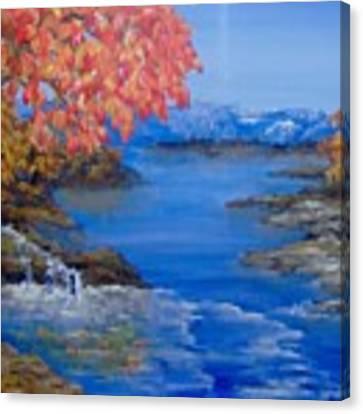 Autumn Canvas Print by Saundra Johnson