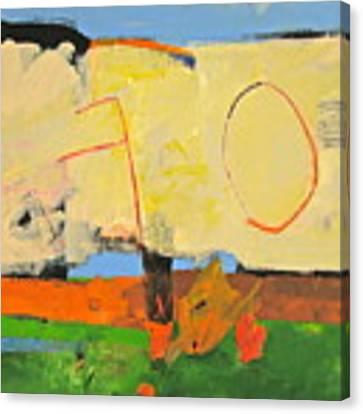 Backyard-4-garden-m- Canvas Print by Cliff Spohn
