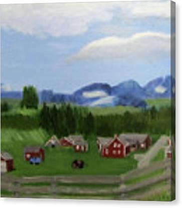 Bar U Ranch Canvas Print by Linda Feinberg