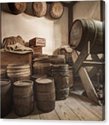 Barrels By The Window Canvas Print by Gary Heller