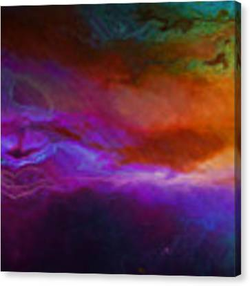 Becoming - Abstract Art - Triptych 1 Of 3 Canvas Print by Jaison Cianelli