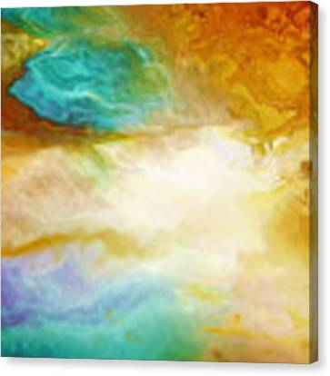 Becoming - Abstract Art - Triptych 2 Of 3 Canvas Print by Jaison Cianelli