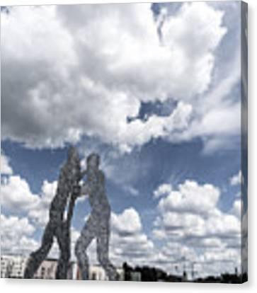 Berlin Molecule Men Spree Canvas Print by Juergen Held