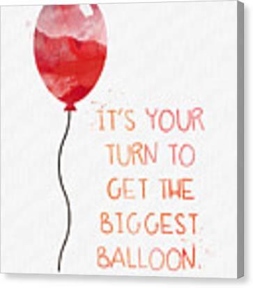 Biggest Balloon- Card Canvas Print