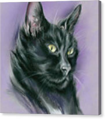Black Cat Sith Canvas Print by MM Anderson