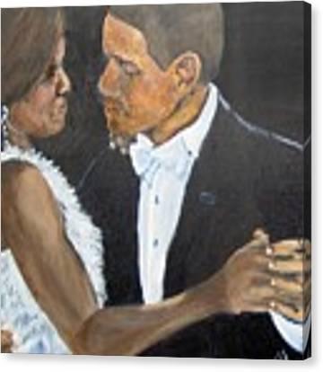 Black Love Is Black Power Canvas Print by Saundra Johnson