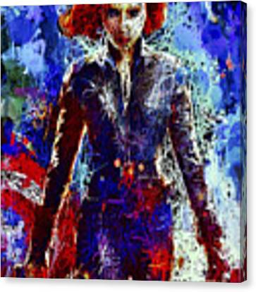 Black Widow Canvas Print by Al Matra