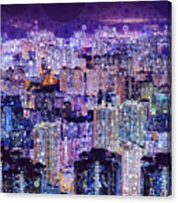Bright Lights, Big City Canvas Print by Susan Maxwell Schmidt