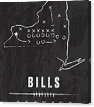 Buffalo Bills / Nfl Football Art / Orchard Park New York Canvas Print by Damon Gray