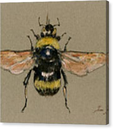 Bumble Bee Art Wall Canvas Print by Juan  Bosco