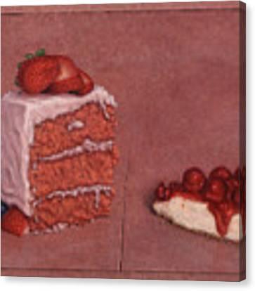 Cakefrontation Canvas Print by James W Johnson