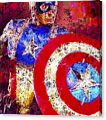 Captain America Canvas Print by Al Matra