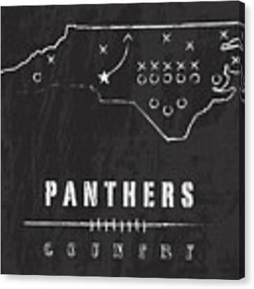 Carolina Panthers Art - Nfl Football Wall Print Canvas Print