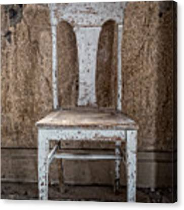 Chair In Abandoned Home In Bodie Ghost Town Canvas Print by Bryan Mullennix