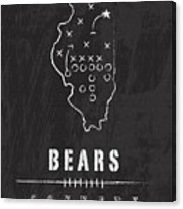 Chicago Bears Art - Nfl Football Wall Print Canvas Print by Damon Gray