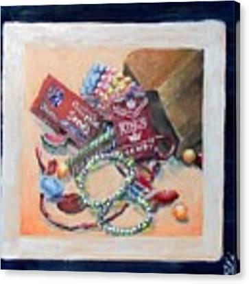 Childhood Treasure Canvas Print by Saundra Johnson