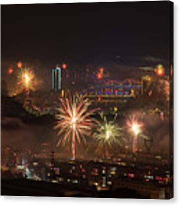 Chinese New Year Fireworks 2018 I Canvas Print by William Dickman