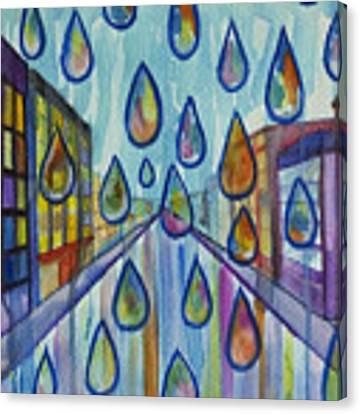 City Rain Canvas Print by Angelique Bowman