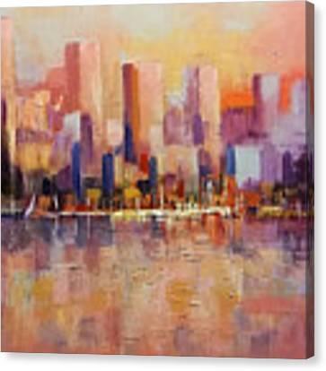 Cityscape 2 Canvas Print by Rosario Piazza