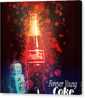 Coca-cola Forever Young 15 Canvas Print by James Sage