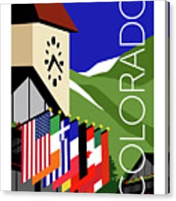 Colorado Vail Clocktower Canvas Print by Sam Brennan