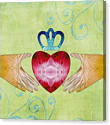 Colorful Art - Friendship - Sharon Cummings Canvas Print by Sharon Cummings