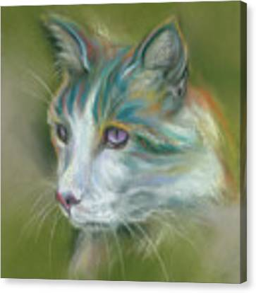 Colorful Spirit Tabby Cat Canvas Print by MM Anderson