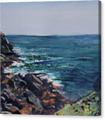 Cornish Clffs Canvas Print by Genevieve Brown