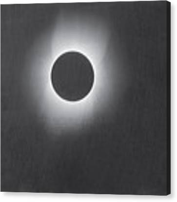 Corona Of The Sun During A Solar Eclipse Canvas Print by Artistic Panda