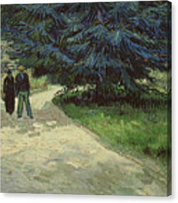 Couple In The Park Canvas Print