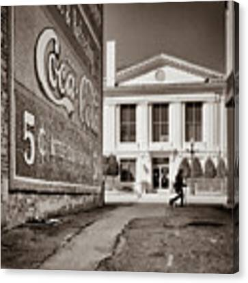Courthouse Alley - Laurens, Sc Canvas Print by Samuel M Purvis III