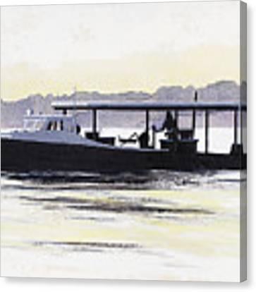 Crab Boat Slick Calm Day Chesapeake Bay Maryland Canvas Print by G Linsenmayer