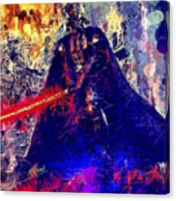 Darth Vader Canvas Print by Al Matra