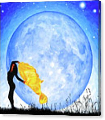 Daughter Of The Moon Canvas Print by Mark Tisdale