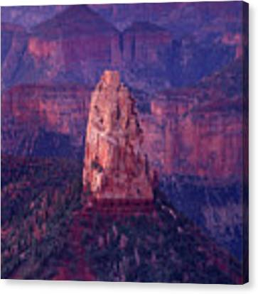 Dawn Mount Hayden Point Imperial North Rim Grand Canyon National Park Arizona Canvas Print by Dave Welling