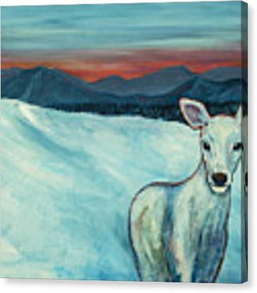 Deer Jud Canvas Print by Angelique Bowman