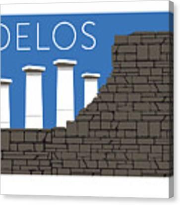 Delos - Blue Canvas Print by Sam Brennan