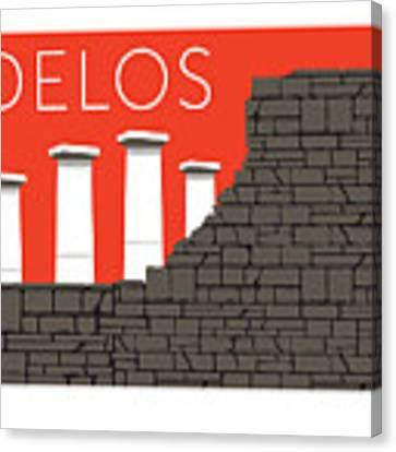 Delos - Orange Canvas Print by Sam Brennan