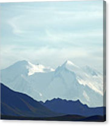 Denali In The Evening Canvas Print by Jean Clark