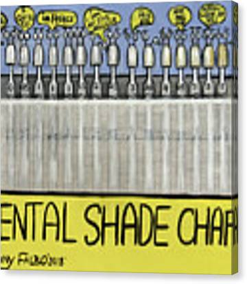 Dental Shade Chart Canvas Print by Anthony Falbo